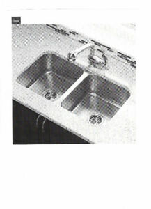 Undermount double bowl stainless sink