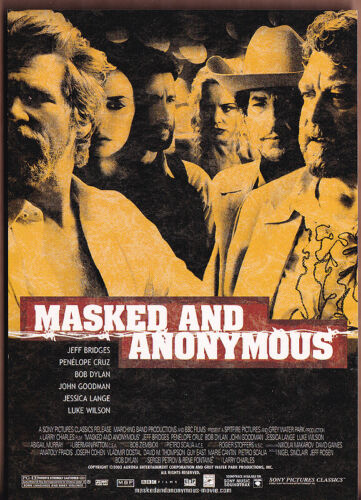 Masked and Anonymous (Bob Dylan) RARE promo postcard 2003