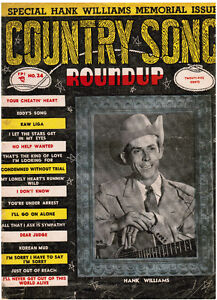 1953 Country Song Roundup Hank Williams Memorial Issue