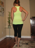 Lululemon RUN Swiftly Tech Racerback Tank Top Yellow Strip 6 Hot