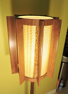 Mid Century Modern Danish Teak Floor Lamp.Solid Teak base