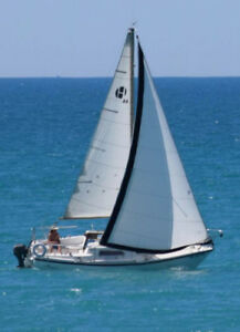 Spacious 24' fixed keel sailboat with custom trailer