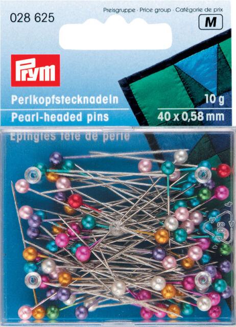 Prym Pearl-headed pins col 40mm x 0.58 10g