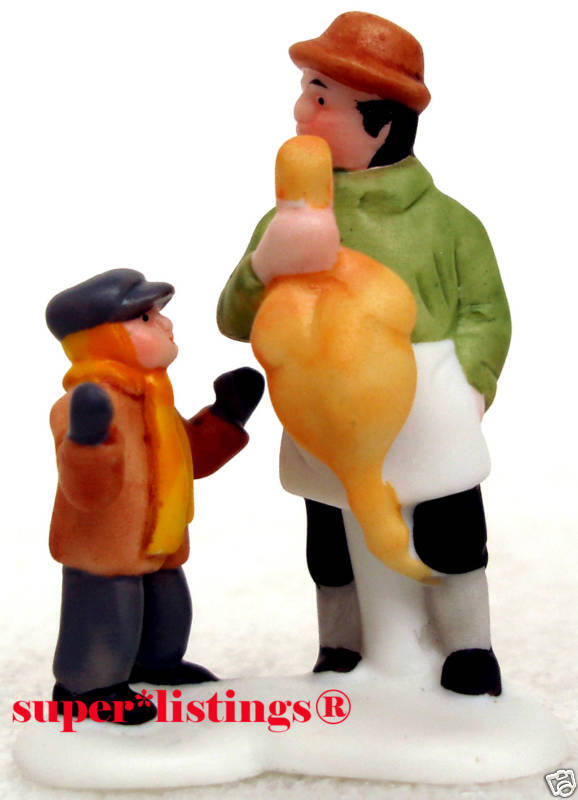 Dept. 56 A Christmas Carol Character Poulterer with Boy only Dickens 65013