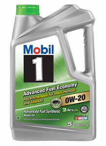 Mobil 1 Advanced Fuel EconomyFull Synthetic Motor Oil 0W-20 4.4L