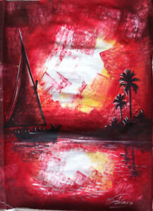 Felucca Ride on the Nile Painting