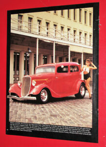 1990 PICTURE - 1933 FORD HOT ROD & 1932 CHEVY ROADSTER VINTAGE
