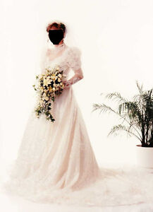 Used Wedding Dress and Veil (from 1980s)