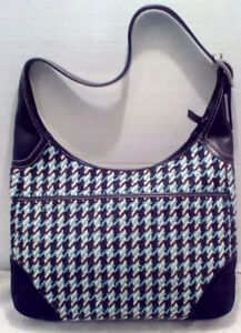Coach Hobo Houndstooth Tricot/Suede Purse