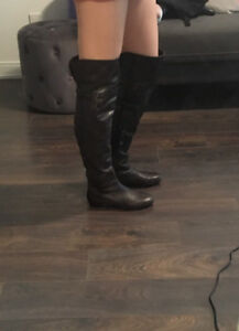 Browns all leather knee high boots.