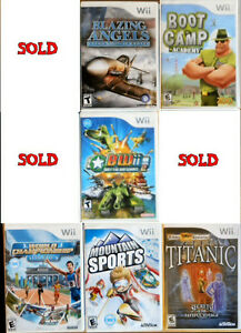 8 Wii Games. Priced to GO!! $30.00 Takes ALL!