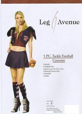 sexy LEG AVENUE tackle FOOTBALL player SPORTS athlete PARTY halloween - Halloween Costume Football Player Woman