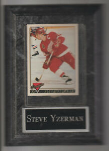 Steve Yzerman Hockey Card Plaque