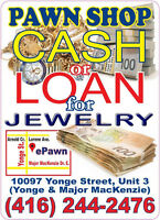 PAWN SHOP - TOP CA$H or PAWN LOAN for your Jewelry