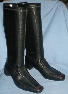 Like New Womens Rieker tall black boots 1/2 price. Size 38 = 7.5
