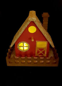 ON SALE!!! Christmas Led Gold roof cabin