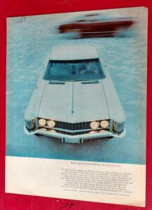 COOL ORIG. 1963 BUICK RIVIERA AD - VINTAGE RETRO ANNONCE 60S