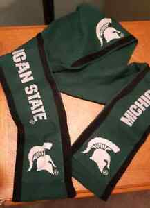Michigan State hooded scarf with pockets!