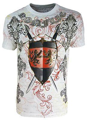 KONFLIC T-SHIRT CROWN KRONE BIKER ROCKER TATTOO INK  Konflic Clothin KING LION