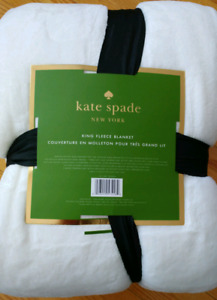 King Size Kate Spade fleece blanket