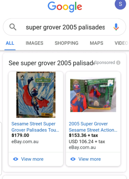 COLLECTABLE Sesame St Super Grover | Collectables | Gumtree