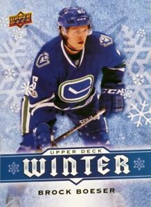 BROCK BOESER Upper Deck Winter Rookie Card #W9