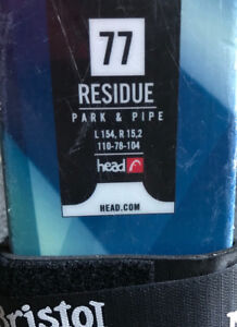 "Twin tip HEAD-""residue park and pipe"" ski.  JUNIOR"