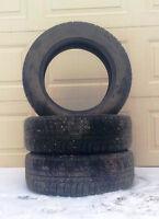 """2 Michelin 205/60/16"""" winter tires"""
