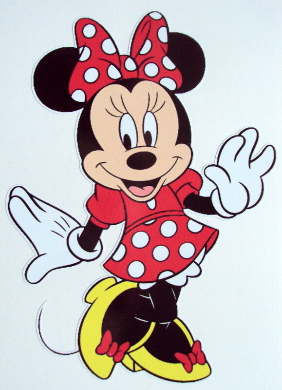 MINNIE MOUSE COLOUR VINYL STICKER, For Car, Wall, Laptop, Ipad (11 x 15cms) фото