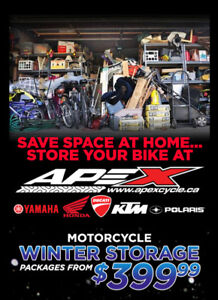 Motorcycle Storage - heated, safe, and secure!