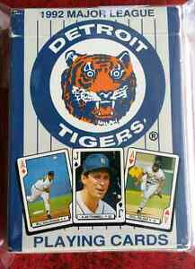 1992 Detroit Tigers playing cards