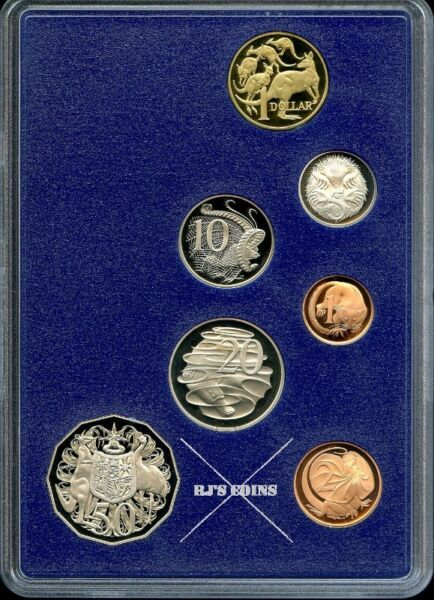 Australian 1985 Proof Seven Coin Year Set from the Royal Australian Mint - The New Impressions