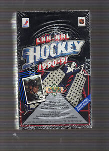 Boite cartes  hockey upper deck premiere edition 1990-91 sceller