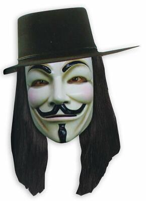 V for Vendetta Set Maske, Hut und Perücke