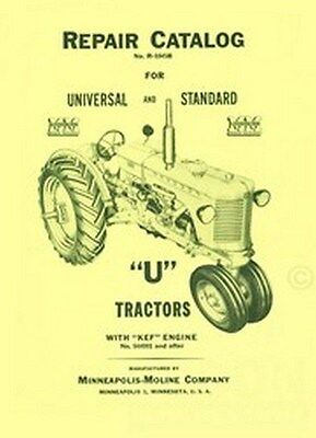 Minneapolis Moline Uts Uti Repair Parts Manual Catalog