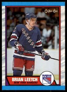 BRIAN LEETCH .. GRADED .. PSA NEAR MINT-MINT 8 - OPC ROOKIE CARD