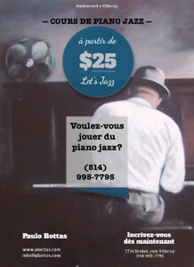Jazz Piano Lessons | Cours de piano jazz