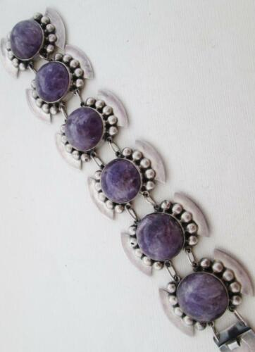 Vintage Mexican Sterling silver and Amethysts bracelet