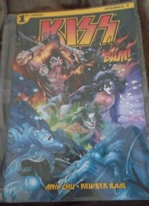 Kiss comic book - signed by John Lucas (cover artist)