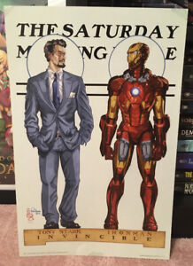 Signed Comic Art Prints (Iron Man, the Winter Soldier, the Crow)