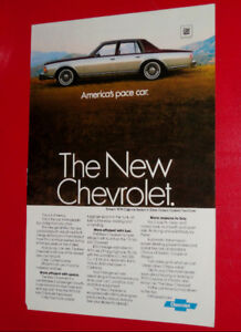 1979 CHEVY CAPRICE CLASSIC SEDAN COOL VINTAGE AD - ANONCE 70S