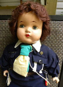 1940's RELIABLE COMPOSITION GIRL GUIDE DOLL ST JEROME QUEBEC West Island Greater Montréal image 2