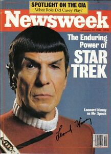 Leonard Nimoy Autographed NewsWeek Mag & Cover and Card London Ontario image 1