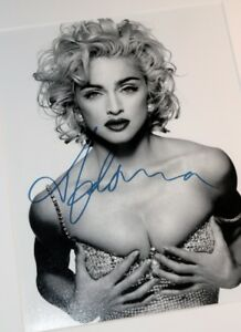 Madonna Autographed Framed Photo + COA