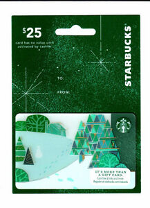 2014 STARBUCKS HANGER CARD - CHRISTMAS FOOTPRINTS #6113