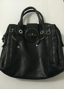Diesel Black Leather Satchel