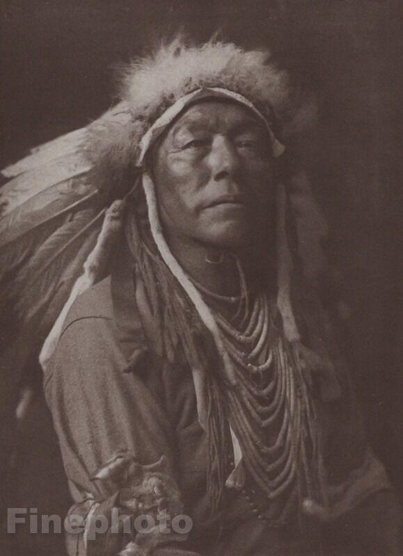 1900/72 Vintage EDWARD CURTIS Native American Indian Chief Apsaroke Photogravure