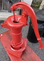 Vintage Cast Iron Working Pump Painted Red