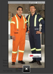 ******** ORANGE SAFETY COVERALLS *******