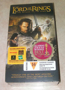 The lord of the Rings on VHS (2 tapes) (new never been opened)